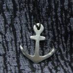 Ancre – Pendentif – Argent fin