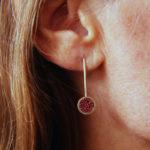 Boucles d'oreilles – Grenade en cuillère