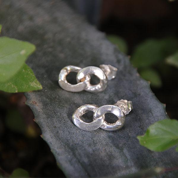 Boucles d'oreilles – Double maillon – Oo
