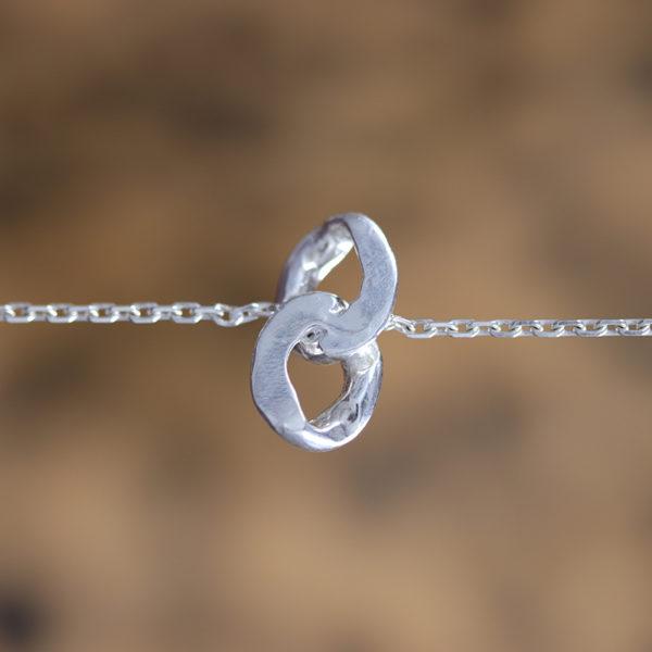 Bracelet-double-maillon-argent-portée