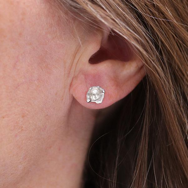 boucles d'oreilles argent 925 gauche