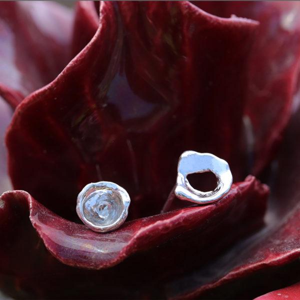 Boucles d'oreilles – Pépite d'eau – Flower